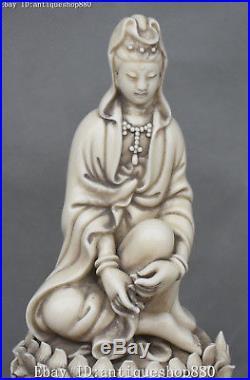 11 Dehua White Porcelain Bird Kwan-yin Guanyin Guan Quan Yin Goddess Statue