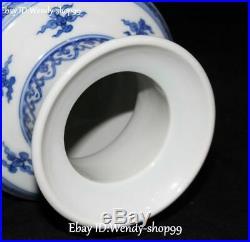 11 White Blue Porcelain Dragon Loong Phoenix Fenghuang Bird Vase Bottle Jar Pot