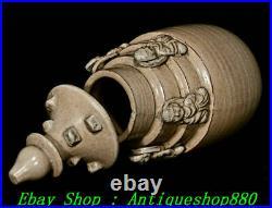 12Old China Dynasty Xing Kiln Porcelain Vase Bottle Pot Censer Sculpture