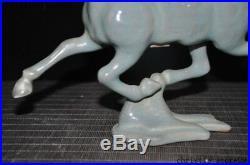 12Old Chinese Feng Shui Ru kiln porcelain glaze animal horse bird Lucky Statue