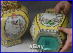 12 Unique Color Porcelain Magpie Bird Flower Pot Vase Bottle Jardiniere Pair