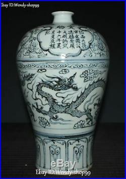 13 Chinese Color Porcelain Words Dragon Loong Animal Crane Bird Vase Bottle Jar
