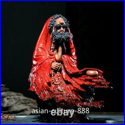 13 Chinese Dehua Porcelain Pottery Arhat Damo Bodhidharma Dharma Buddha Statue