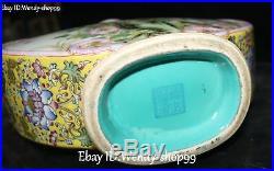 13 Enamel Wucai Porcelain Gilt Parrot Bird Flower Ruyi Tank Pot Kettle Flask