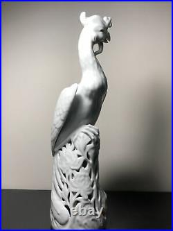 13 Large Blanc De Chine Porcelain Bird Figurine