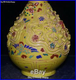 13 Marked Color Porcelain Flower Grass Crane Bird Lion Head Vase Bottle Jar