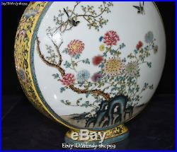 13 Top Enamel Color Porcelain Magpie Bird Flower Tank Jar Vase Bottle Flask Pot