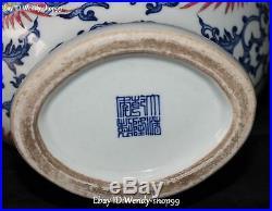 13 Unique Color Porcelain Dragon Phoenix Phenix Fenghuang Bird Vase Bottle Jar