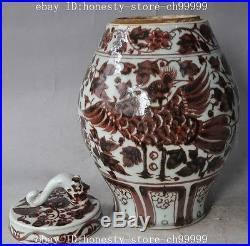 13china old porcelain phoenix bird beast statue Tanks Crock Bottle Pot Vase jar