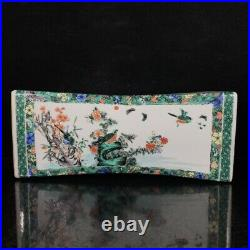 14.2 Rare China Qing Dynasty Multicolored Flowers and birds Porcelain pillow
