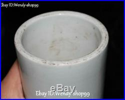 14 KangXi Year Color Porcelain Red-Crowned Crane Bird Vase Bottle Jar Pot Pair