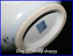 14 Top Emerald Color Porcelain Gilt Lotus Flower Bird Tank Pot Canister Jar
