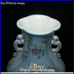 15 China Color Porcelain Gilt Poney Flower Phoenix Bird Magpie Vase Botter Jar