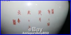 15 China Colour Porcelain Magpie Birds Plum Blossom Flower Bottle Vase Jar Pair