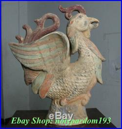 15 Collect Chinese Tang Sancai Pottery Porcelain Phoenix Bird Statue Sculpture