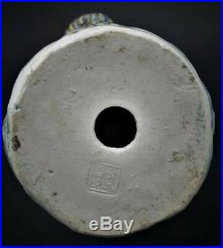 19th c- Large Rare Genuine Antique Chinese Porcelain Phoenix Bird Figures Pair