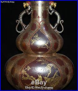 20 Enamel Color Porcelain Magpie Bird Dragon Flower Gourd Pot Flask Bottle