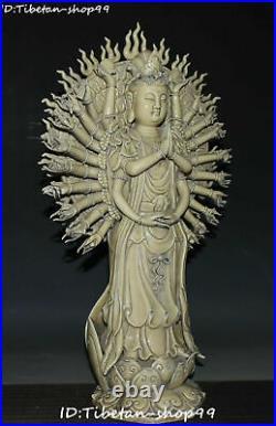 20 Rare Dehua Porcelain 1000 Arms Kwan-yin Guanyin Guan Quan Yin Goddess Statue