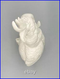 20th Century Blanc De Chine Style White Porcelain Parrot