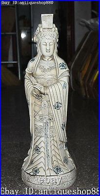 26 Marked Dehua Porcelain Ruyi Phenix Bird Queen Mother Immortal God Statue
