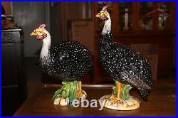 2 Large ABIGAILS Guineas Ceramic Porcelain Figurines 14.5 & 17.5 Tall Statue