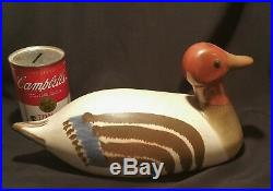 81 DUCK vtg stoneware art pottery mallard decoy figurine statue teka studio bird