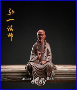 8 Dehua porcelain ceramic Buddhist disciples buddha monk Master Hong Yi Statue