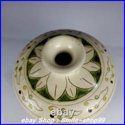 8 Old China Song Dynasty Cizhou kiln Porcelain Money Flower Pattern Bottle Vase