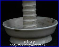 9 Old Chinese Song Dynasty Ru Kiln Porcelain lotus Incense Burner Censer