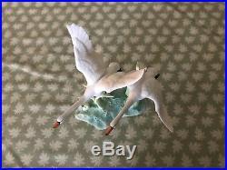 ANDREA SADEK BIRD FIGURINE vintage porcelain statue Japan 7350 Double swan 1985
