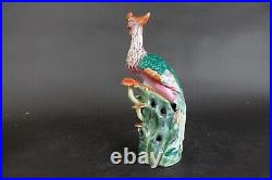 Amazing Antique Chinese Porcelain Phoenix Figurine Qianlong 18th Century