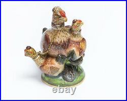 Antique 18th Century Porcelain Figural Bird Multi Scent Bottle