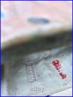 Antique 19th C. Chinese Famille Porcelain Buddha Statue God Shou Lao Figure Rare