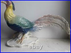 Antique 20s Statue Large Bird Porcelain Pheasant Karl Ens Germany Figurine Signe