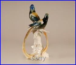 Antique Art deco porcelain figurine Karl Ens Volkstedt Paradise birds Volkstedt