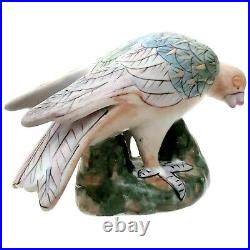 Antique Chinese Export Famille Verte Figure Of Dove Porcelain Bird Figurine