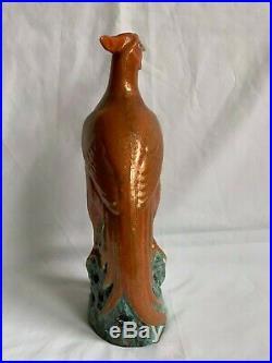 Antique Chinese Porcelain Phoenix Bird Figurine Gilt Qianlong 18th Century