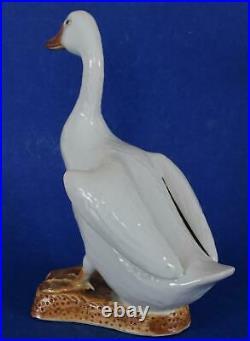 Antique Chinese Porcelain White Duck circa 1890-1900 Backwards C China Mark