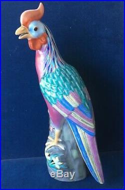 Antique Chinese Qing/Republic Period Porcelain Phoenix Ho Ho Bird Statue