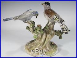 Antique German birds porcelain statue # 11244