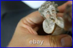 Antique German sax porcelain marked putti cherub group statue