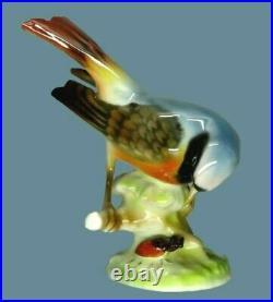Antique Germany Porcelain Figurine Hutschenreuther Porcelain Bird and Beetle Art