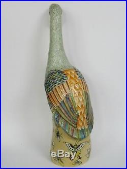 Antique Qianlong Period Chinese Export Porcelain Poluchrome Decorated Crane 18