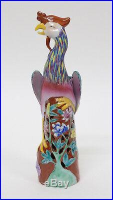 Antique Vintage Chinese Porcelain Figure Statue of a Phoenix