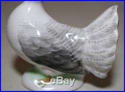 Antique hand painted signed Nippon porcelain bird dove pigeon figurine statue