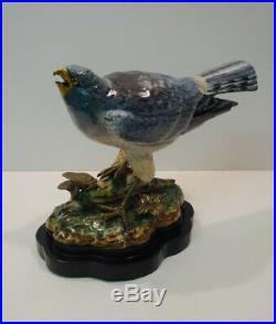 Art Deco Style Statue Figurine Harrier Bird Wildlife Art Nouveau Style Porcelain