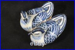 Beautiful Chinese blue&white porcelain mandarin duck