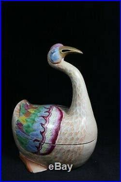 Beautiful Chinese famille rose porcelain duck