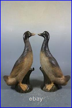 Beautiful chinese brown porcelain a pair duck