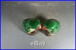 Beautiful chinese green glaze porcelain Parrots